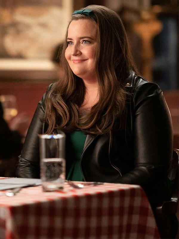 Aidy Bryant Shrill Annie Easton Leather Jacket