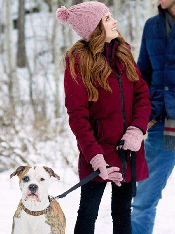 Cassie Winter Love Story Jen Lilley Hooded Coat