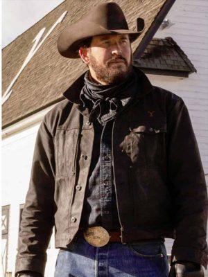 Cole Hauser Yellowstone Black Jacket