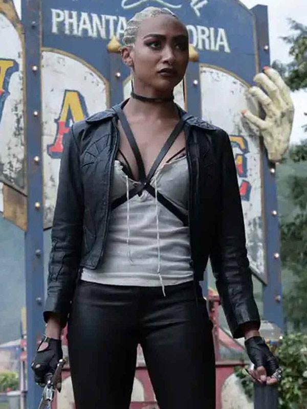 Tati Gabrielle Chilling Adventures of Sabrina Leather Jacket