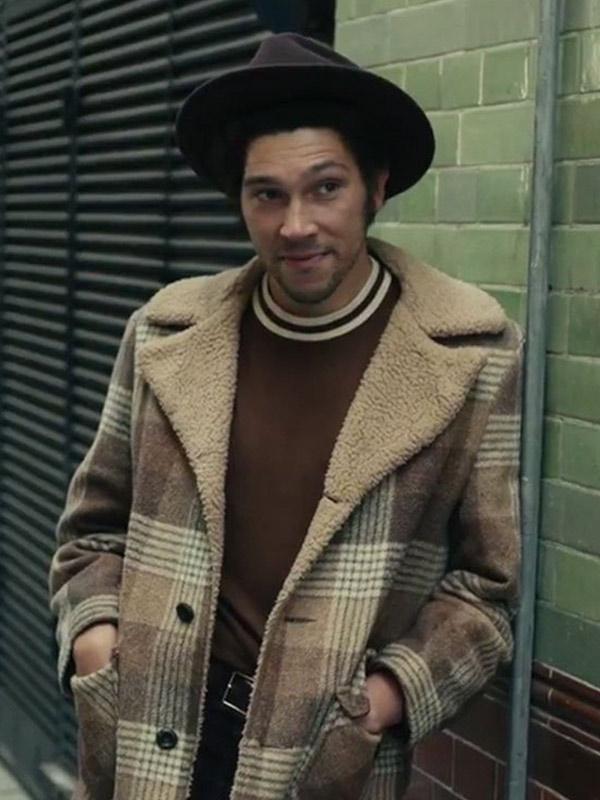 Cruella Joel Fry Wool Check Coat