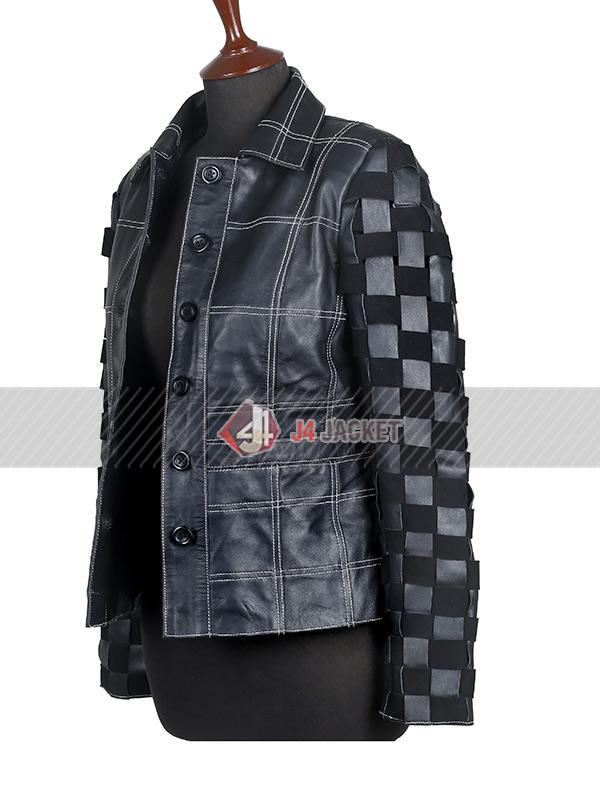 Emma Stone Cruella Leather Jacket