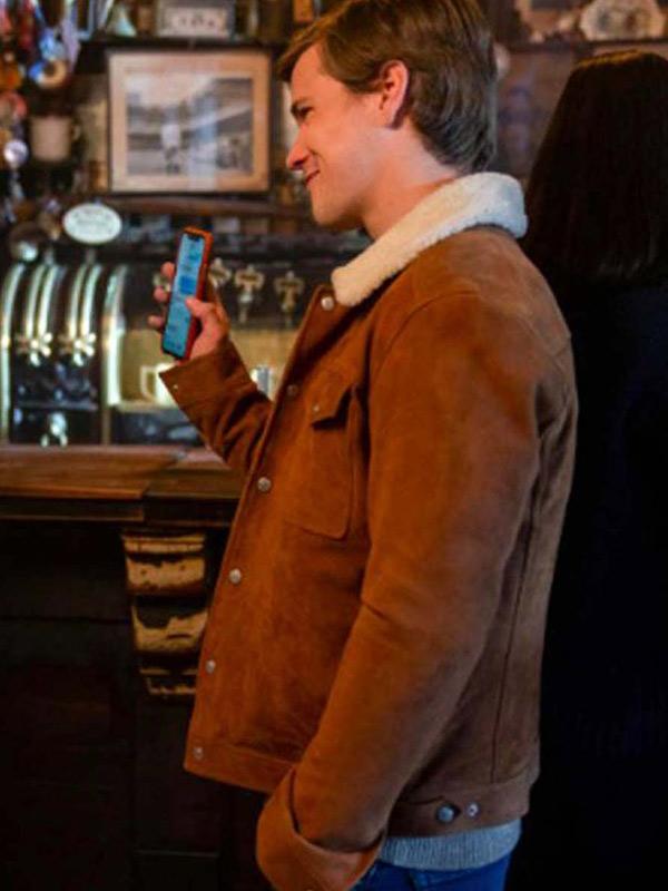 Dash & Lily Glenn McCuen Brown Leather Jacket