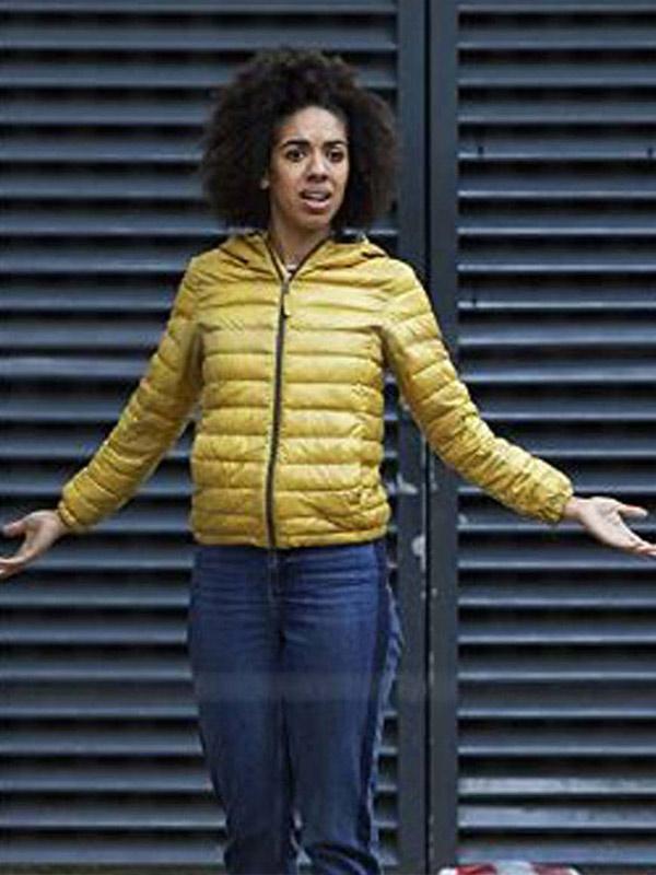 Doctor Who Bill Potts Yellow Puffer Jacket