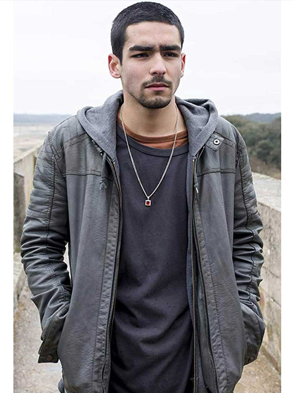 Elite Omar Ayuso Gray Leather Jacket