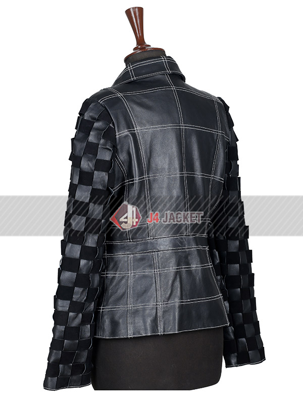 Emma Stone Cruella 2021 Costume Black Leather Jacket