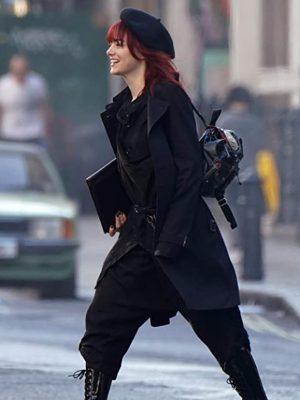 Emma Stone Cruella Black Coat
