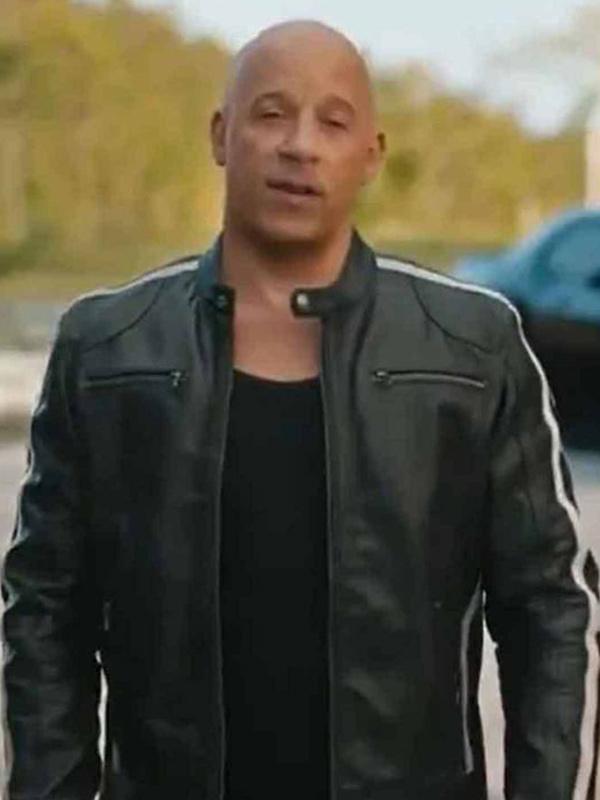 Vin Diesel Black Leather Jacket