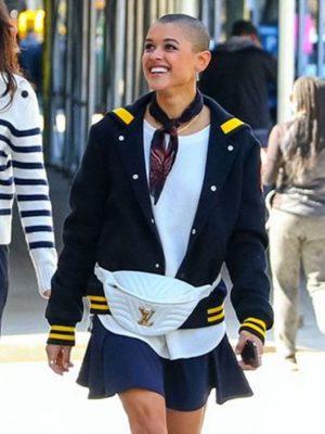 Gossip Girl Jordan Alexander Black Varsity Jacket
