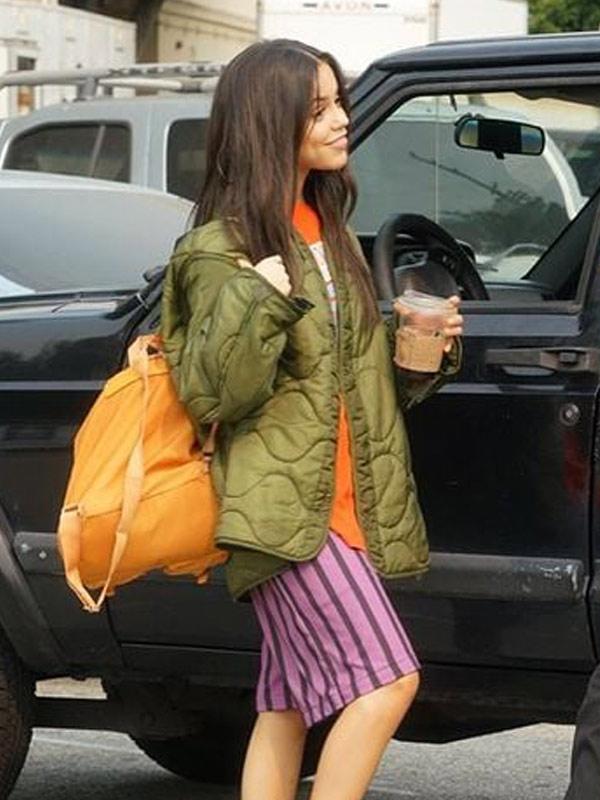 Jenna Ortega Green Jacket