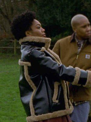 Master of None Denise Shearling Leather Jacket