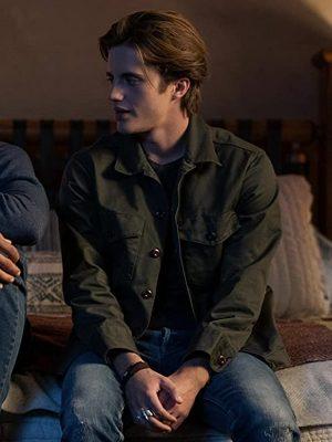 Love Victor Benjamin Benji Campbell Green Leather Jacket