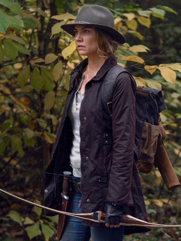 The-Walking-Dead-Maggie-Rhee-Brown-Jacket
