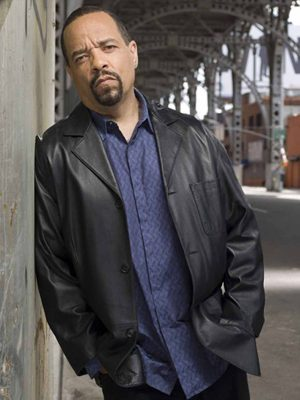 Ice-T Law and Order Black Leather Jacket