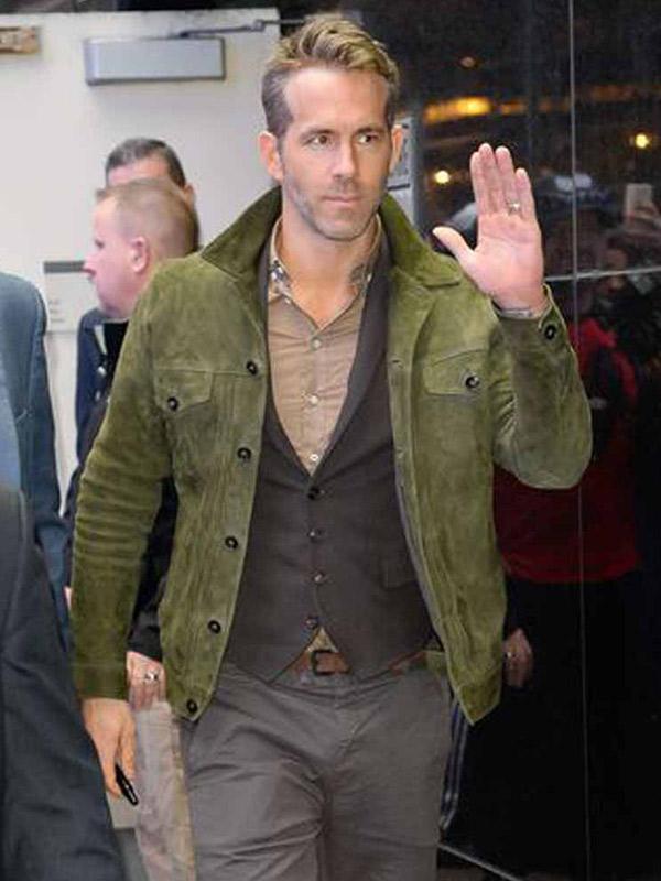 Red Notice Ryan Reynolds Leather Jacket