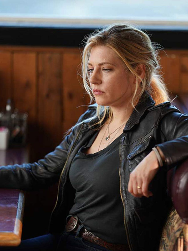 Katheryn Winnick Big Sky Jenny Hoyt Leather Jacket