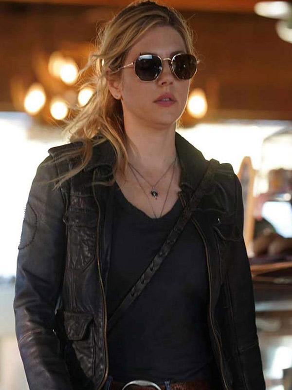 Big Sky Katheryn Winnick Black Leather Jacket