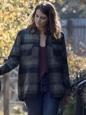 The-Walking-Dead-Maggie-Rhee-Plaid-Jacket