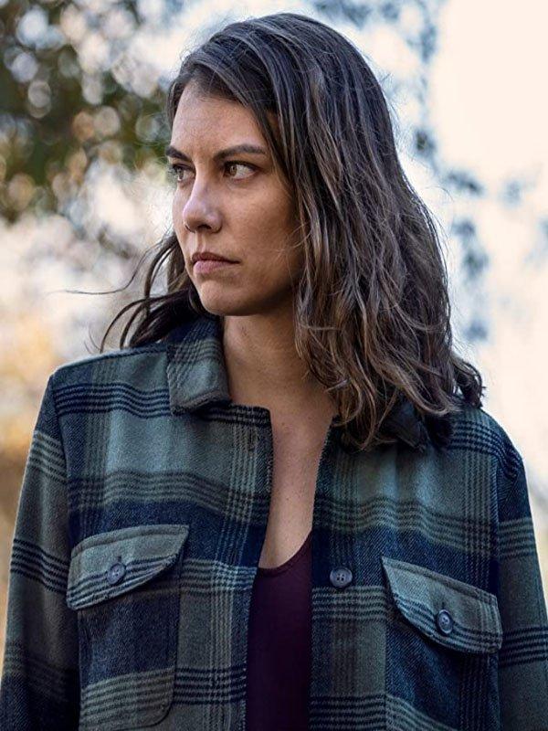 The-Walking-Dead-Maggie-Rhee-Plaid-Checkered-Jacket