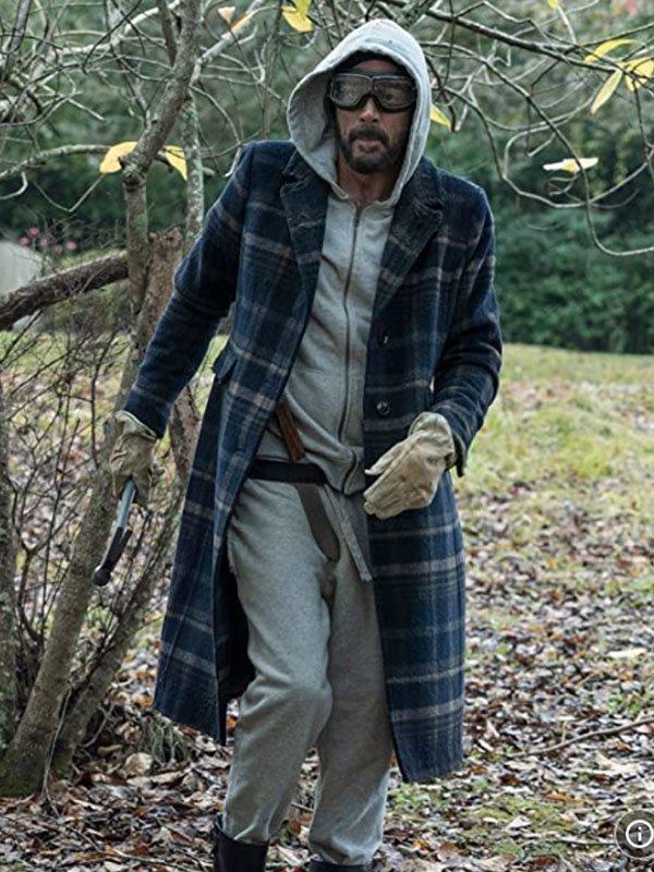 The Walking Dead Jeffrey Dean Morgan Plaid Trench Coat