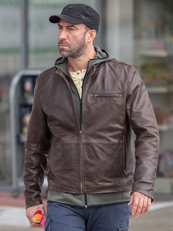 Umbre Season 3 Relu Brown Leather Jacket