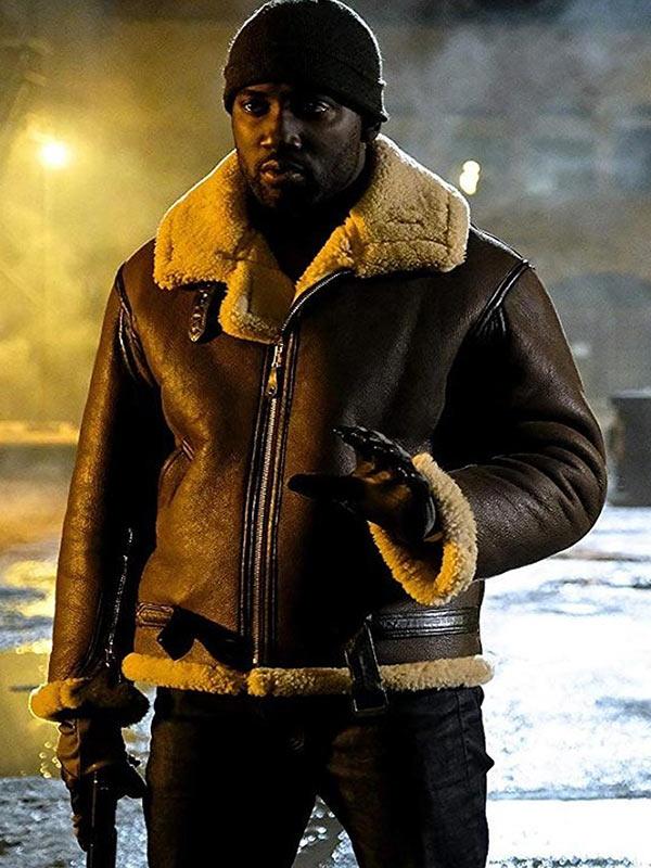 Shamier Anderson Wynonna Earp Shearling Leather Jacket