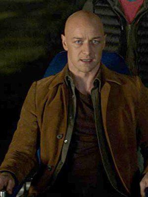 X-Men Dark Phoenix James McAvoy Brown Jacket