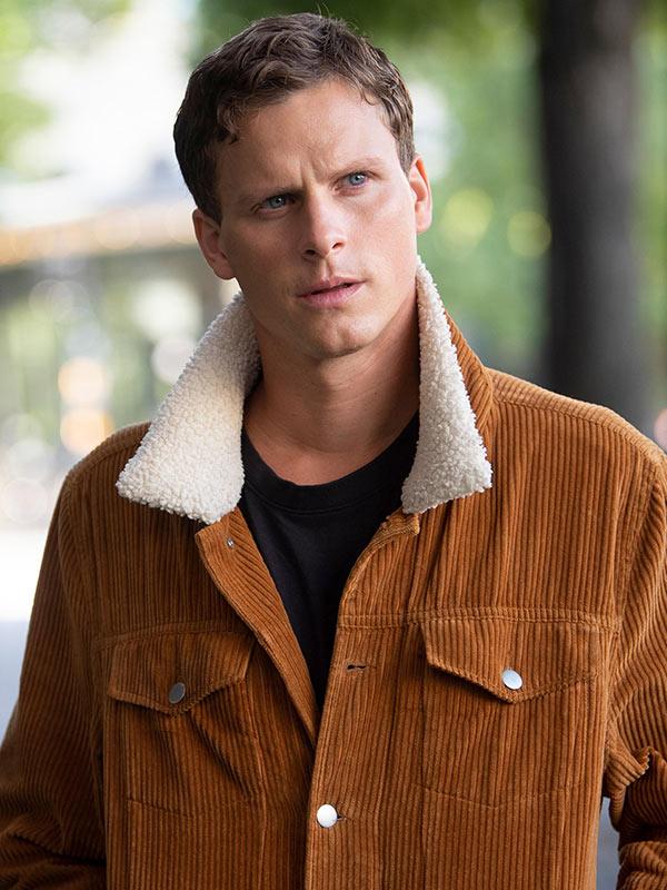 Young Wallander Kurt Wallander Brown Shearling Jacket