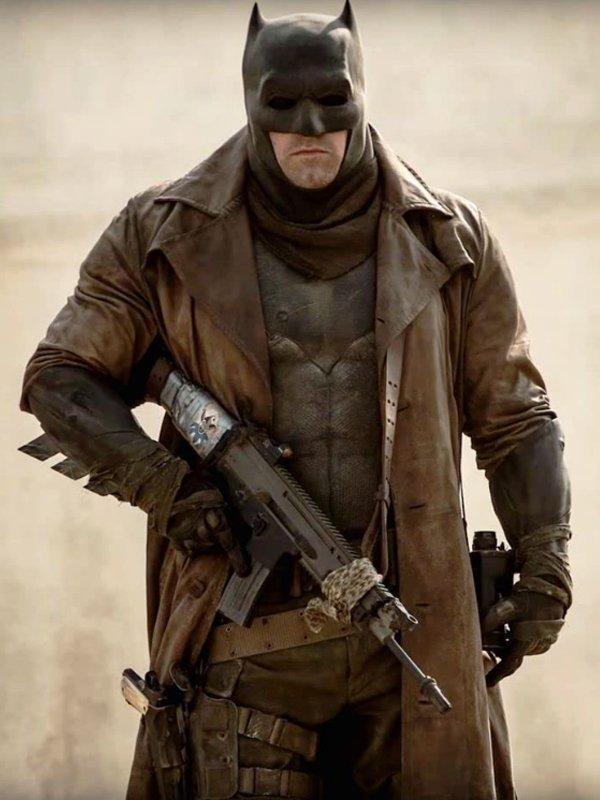 Zack Snyders Justice League Batman Long Coat