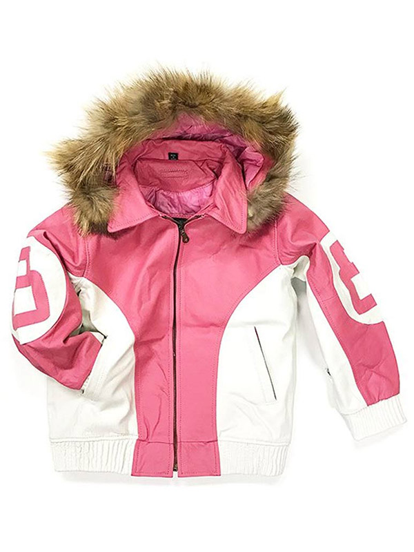 8-Ball-Pink-Leather-Faux-Fur-Lined-Hooded-Jacket