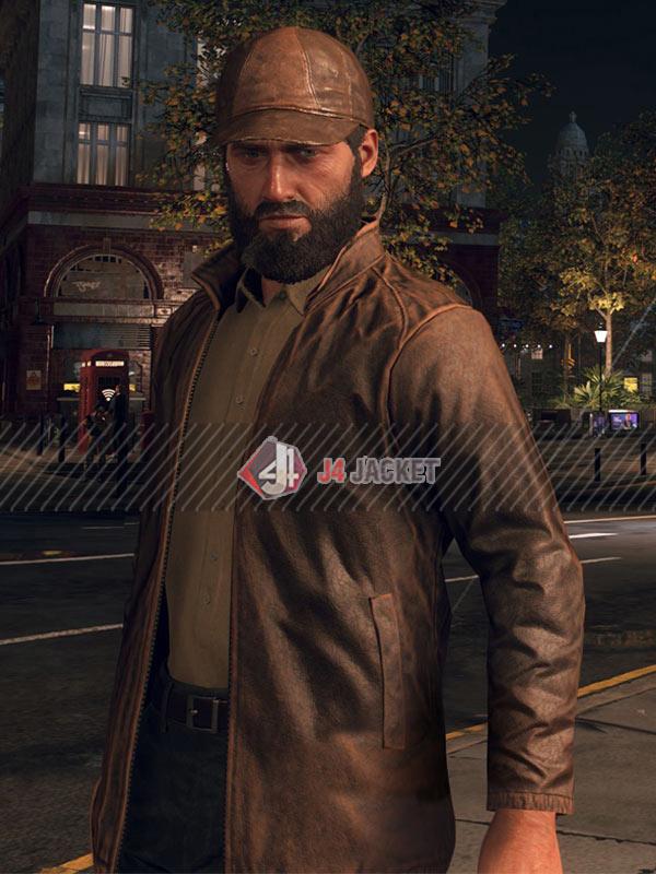 Aiden Pearce Watch Dogs Legion Bloodline Brown Leather Jacket