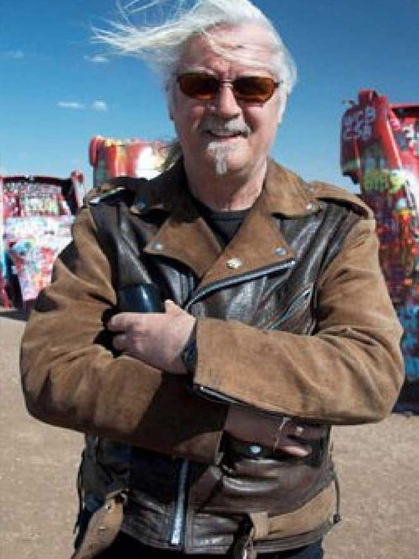 Billy Connolly's Route 66 Brown Biker Jacket