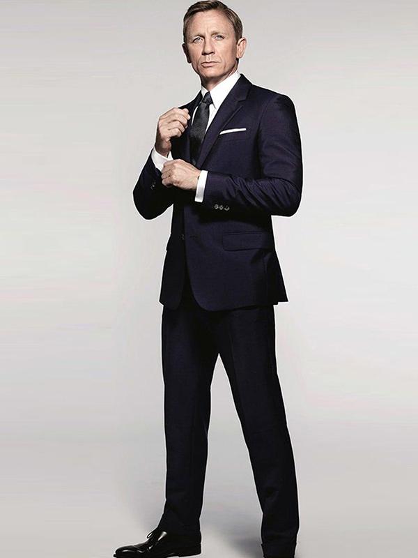 James Bond Spectre Daniel Craig Sharkskin Suit