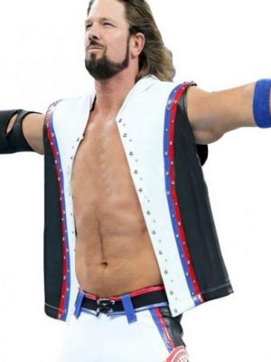 A.J. Styles WWE White Leather Vest