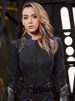 Daisy Johnson Agents of Shield Black Jacket