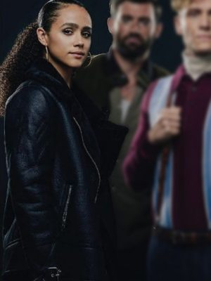 Nathalie Emmanuel Leather Jacket