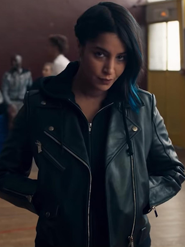 Leïla Bekhti How I Became a Super Hero Leather Jacket