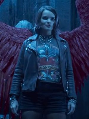 Rory Lucifer S06 Brianna Hildebrand Leather Jacket