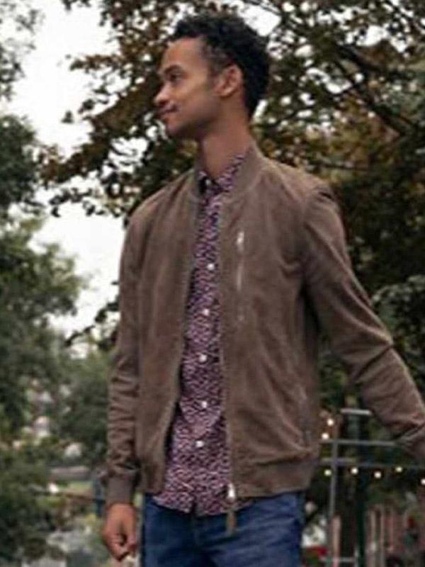 Ben Modern Love S02 Brown Suede Leather Jacket