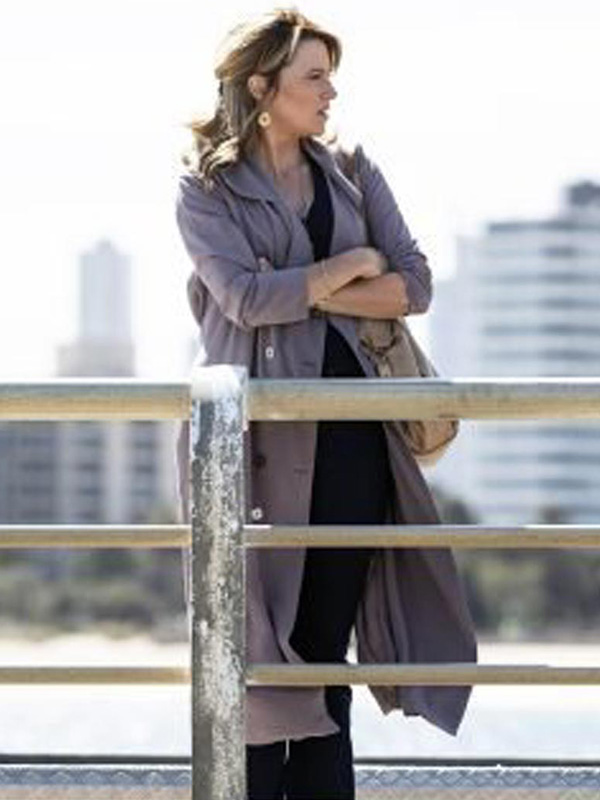 My Life Is Murder Lucy Lawless Trench Coat