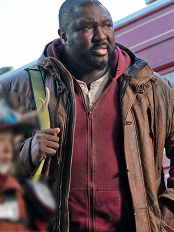 Sweet Tooth Nonso Anozie Brown Coat