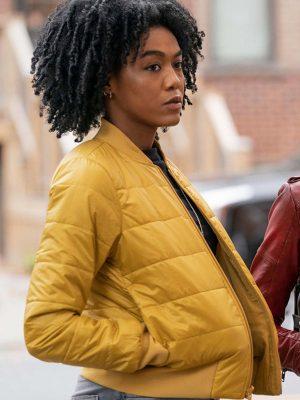 Nia Holloway The Republic of Sarah AJ Johnson Bomber Jacket