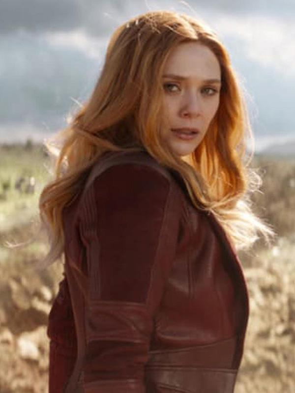 WandaVision Elizabeth Olsen Leather Coat