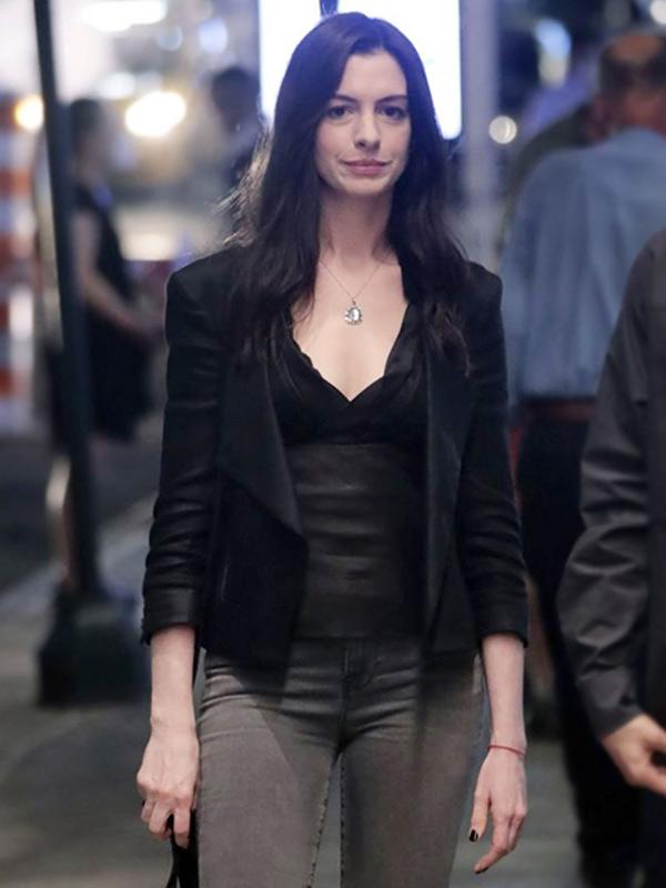 Anne Hathaway Leather Jacket