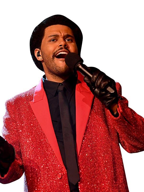 Super Bowl The Weeknd Red Blazer Jacket