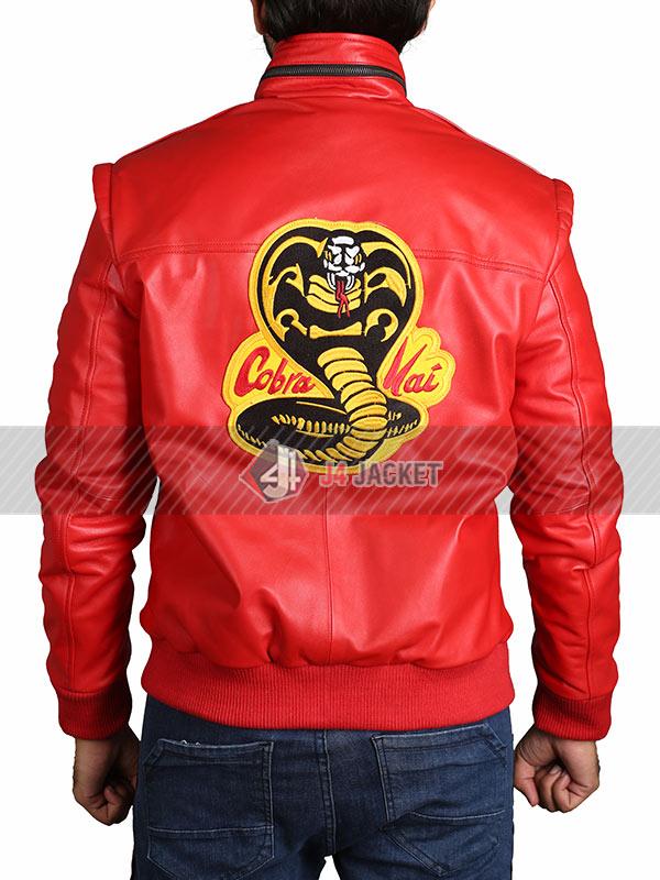 Tv Series Cobra Kai Johnny Lawrence Red Bomber Jacket