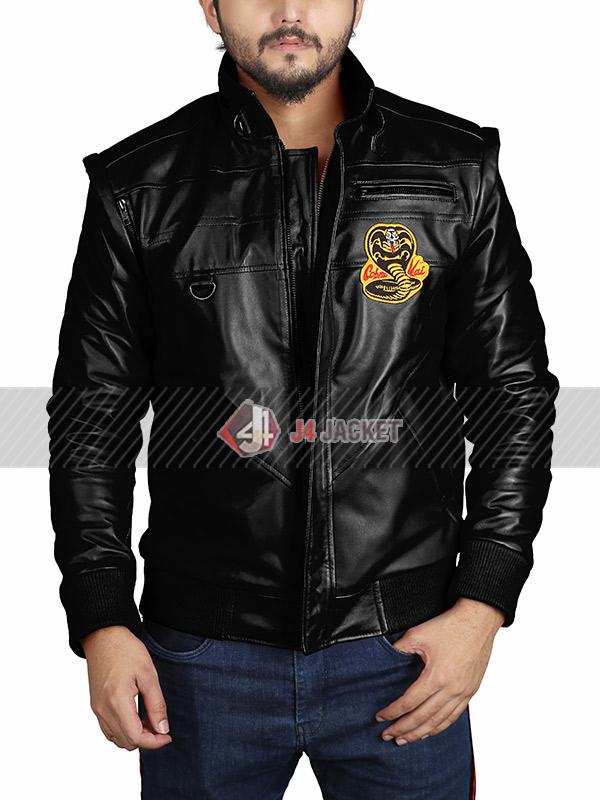 TV Series Cobra Kai Halloween Costume Cosplay Red Leather Jacket