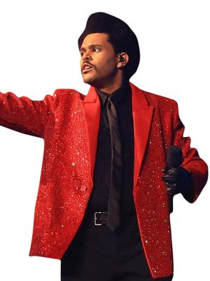 The Weeknd Super Bowl Red Blazer