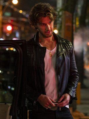 Brad Simon Sex/Life Adam Demos Black Quilted Leather Jacket