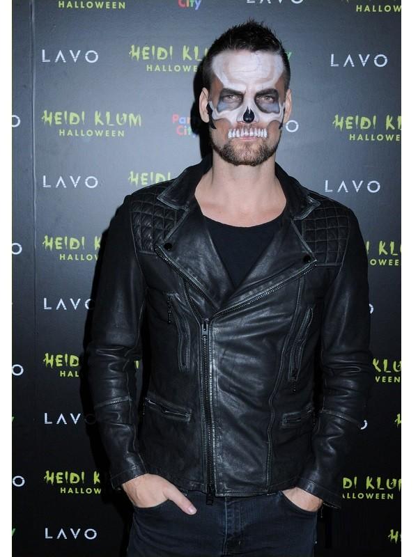 American Singer Adam Lambert Halloween Black Leather Jacket